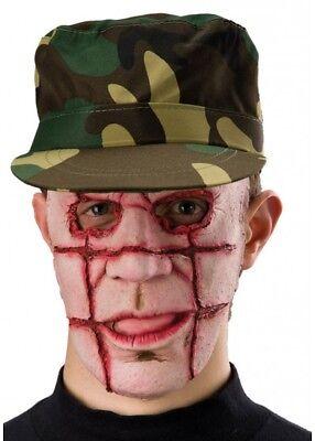 Disfraz De Halloween De Hombre (Halloween Asesino Serial Máscara Parrilla Cara Disfraz Zombie Hombre de)