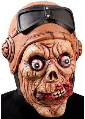 Látex Zombie Piloto Máscara Halloween Terror Aviador Accesorio de Disfraz