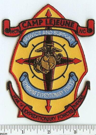 USMC MCB Camp Lejeune PATCH North Carolina BASE ! Marines ! Expeditionary Forces