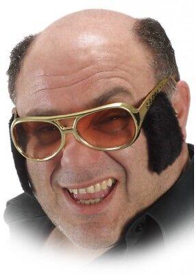 Rock n Roll Elvis Sonnenbrille mit Koteletten Kostüm Herren - Elvis Kostüm Jungen