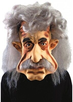 Deluxe Oversized Albert Einstein Mask Fancy Dress Costume Caricature - Albert Einstein Fancy Dress Kostüm