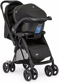 Joie Mirus Travel System contains buggy and as new car seat
