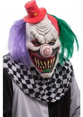 De Luxe Tueur Masque Latex Clown Evil Tourbillon Nez & Chapeau Costume Halloween - Masque De Clown Halloween