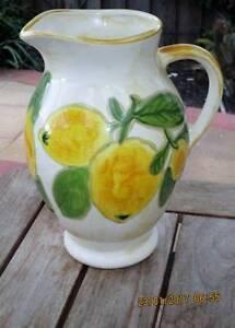 Jug - Hand Painted - Lemons Keilor East Moonee Valley Preview