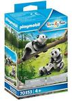 PLAYMOBIL Family Fun   2 Panda's met baby (70353)