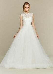 Hayley Paige Blush Wedding Dress, belt and veil