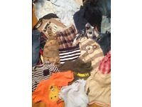 Baby boys clothes job lot age 6-9 and 9-12 months bundle clothing babies coat jeans tops