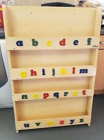 Tidy Books Bookcase in Alphabet Natural