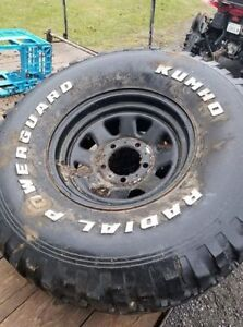 """33"""" spare M/T on Jeep CJ / Ford wheel"""