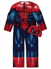 New spiderman fancy dress outfit 3-4