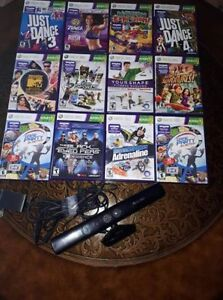 Xbox Kinect with 12 Games