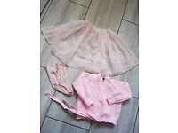 Girl's ballet outfit - skirt, cardigan & socks - age 4-6 years (plus other accessories)