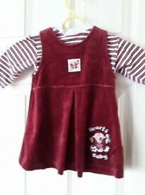 Official Hearts Baby Dress 3-6mths