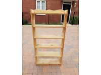 Sturdy Wooden Shelves/Bookcase