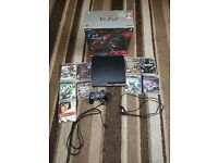 PlayStation3 slim 320gb fully boxed games and all cables