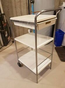 Ikea white kitchen cart