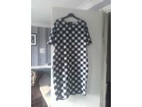 BNWT size 20 black and white dress