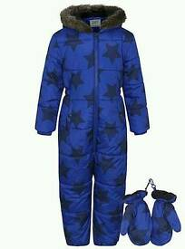 2 identical boys snow suits age 5-6 years