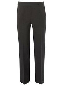 Bundle of 2 Girls School Uniform Plus Fit Bow Detail Trousers grey/charcoal for 9-10 years, BNWT.
