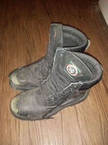 Used size 9 male steel toed boots