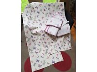 Laura Ashley Butterfly Curtains & Duvet sets (suit girls room)