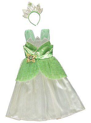 Mädchen Disney Prinzessin Tiana Maskenkostüm, Krone Stirnband Kinder 2-10