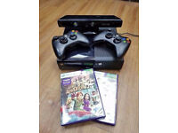 XBOX 360 SLIM WITH KINECT PLUS 4 GAME'S 2X WIRELESS CONTROLLERS