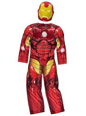 Jungen Marvel Avengers Iron Man Leuchtende Kostüm Kinder 2-10 Jahre