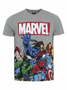 Mans Marvel Action Heroes t-shirt size medium brand new