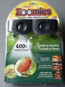 Zoomies Hands Free Binoculars 400% Magnification ~AS SEEN ON TV~ FREE SHIPPING!