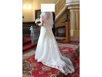 Bridal ivory wedding dress