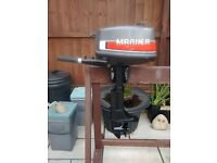 MARINER 4HP 2 STROKE SHORT SHAFT OUTBOARD MOTOR FOR DINGHY DINGY TENDER RIB SIB