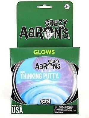 Ion Glow In The Dark Crazy Aarons Thinking Putty New Large 4  Tin 3 2Oz