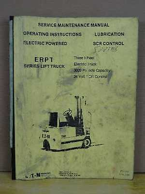 Oem Eaton Yale Erpt Electric 3 Wheel Forklift Service Maintenance Manual Itd1341