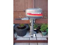 MARINER 4HP 2 STROKE SHORT SHAFT OUTBOARD MOTOR , BOAT ENGINE TENDER DINGHY RIB SIB