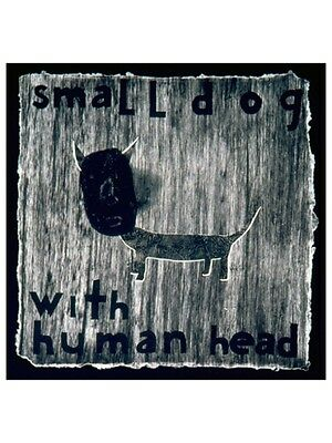 Small Dog with Human Head by David Lynch, ink wash on hand-made paper, 1998