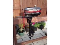 MERCURY 2.5HP / 3.5HP 2 STROKE SHORT SHAFT OUTBOARD MOTOR , DINGHY DINGY TENDER RIB FISHING BOAT