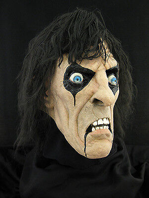 Alice Cooper Halloween Horror Haunt Latex Mask Prop, - Alice Cooper Halloween Mask