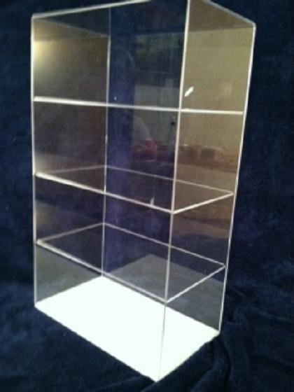 Acrylic Display Case Countertop 12 x 7 x 20.5 (different spacing) Showcase