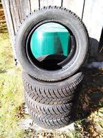 4 hankook ipikes winter tires 195/55/15
