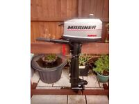 MARINER 4HP 2 STROKE SAILMATE OUTBOARD MOTOR , DINGHY DINGY TENDER RID SIB FISHING BOAT