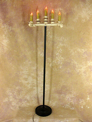 Floor Candelabra Halloween (Spine Bone Candelabra Floor Model w/ Five Flicker Candles, Halloween Prop,)