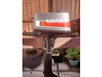 MARINER YAMAHA 4HP 2 STROKE OUTBOARD , DINGHY TENDER RIB SIB SAILING FISHING BOAT