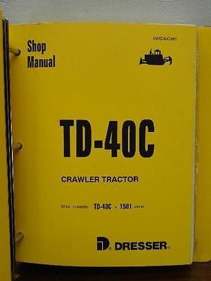 Dresser Td-40c Td 40c Td40c Crawler Tractor Dozer Shop Repair Service Manual