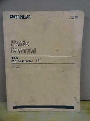 Original Caterpillar Cat 14g Motor Grader Parts Book List Manual 96u1-1097