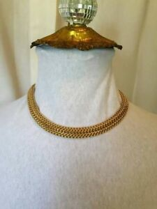 Vintage MONET thick gold chain available for rent.