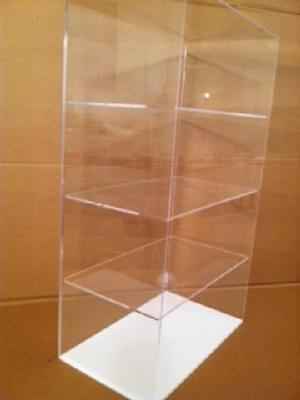 Usa-acrylic Display Case 12 X 7 X 20.5 Different Spacing Showcase Cabinet