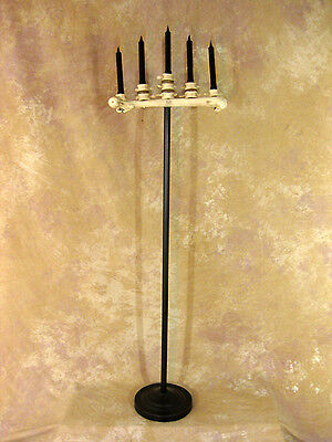 Floor Candelabra Halloween (Spine Bone Candelabra Floor Model w/ Five Real Candles, Halloween Prop,)