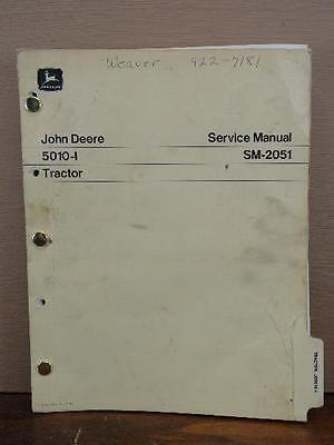 Oem Factory John Deere 5010-i Industrial Tractor Repair Service Manual Sm-2051
