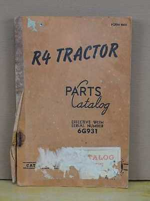 Original Cat Caterpillar R4 Tractor Dozer Parts Manual Book List Catalog 6g931